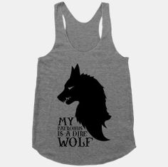 My Patronus is a Dire Wolf - Game of Thrones / Harry Potter tank top