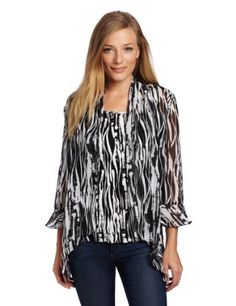 Alfred Dunner Women's Textured Printed Blouse Alfred Dunner. $27.15. Machine Wash. Two for one. polyester. Printed blouse