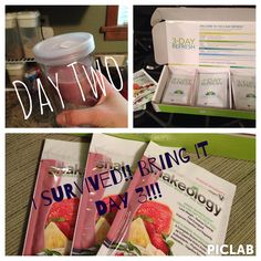 Day 2 - 3 Day Refresh . Today I feel super energized!! . This is crazy because if I told you how many calories I'm eating in one day you wouldn't believe that I'm standing upright on only 7 hours of sleep. Lol . Bring it Day 3!!!