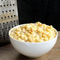 The Stay At Home Chef: Gourmet Bacon Mac and Cheese. Brie provolone goat cheese and white cheddar