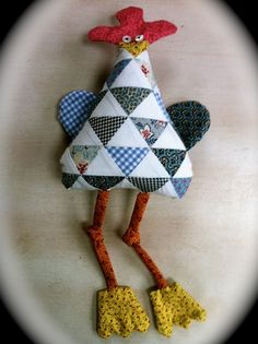 the running chicken quilting co. Knobbly Knees Chicken Pattern