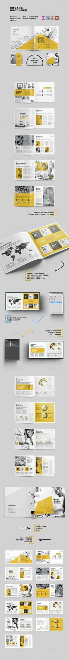 26 Pages Brochure Template PSD, INDD, Vector EPS, AI. Download here…
