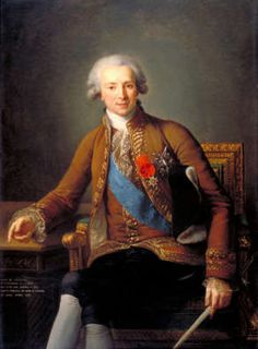 Portrait of the Comte de Vaudreuil (1740–1817) by Elisabeth Vigee LeBrun.  Vaudreuil was the reputed lover of Gabrielle, the Duchess de Polignac, Marie Antoinette's closest friend. ~LMB