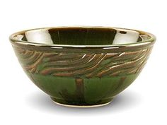Bowl created by Tracy Gamble glazed with PC-42 Seaweed.