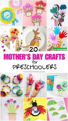 Mother's Day Crafts for Kids -The Best Crafts for Mom and Grandma! Preschool Mothers Day Gifts, Mothers Day Gifts From Daughter, Diy Gifts For Kids, Crafts For Kids To Make, Mothers Day Cards, Preschool Crafts, Kids Crafts, Easy Mother's Day Crafts, Easy Arts And Crafts