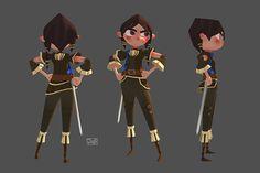 Arya 3D - Fear cuts deeper than swords on Behance