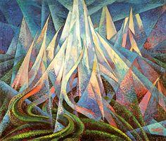 Dottori Gerardo, Forze ascensionali, olio su tela, 81 x 95 cm. Sketchbook Inspiration, Art Sketchbook, Italian Futurism, Futurism Art, Abstract Art Images, Composition Art, Art Prints For Sale, Italian Artist, Art For Art Sake