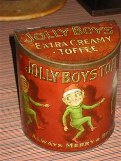Large toffee tins