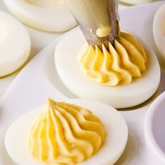 Creamy Deviled Eggs Recipe — A Food Centric Life Deep Fried Deviled Eggs, Deviled Eggs Recipe, Perfect Hard Boiled Eggs, Brunch, Organic Eggs, How To Cook Eggs, Egg Recipes, A Food, Recipes