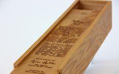 Laser cedro inciso scatola premio di legno