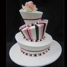 Mad hatter black & pink cake