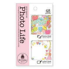 フォトライフシール 77337 Birthday heart