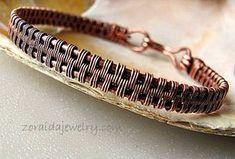 Copper Wire Woven Bracelet Size 8 for Men or Women
