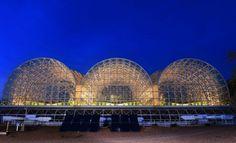 Landscape Evolution Observatory at Biosphere 2   Photo: Erik Hinote.   Bustler