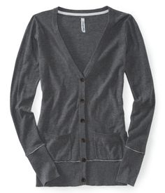 Solid V-Neck Cardigan. One in every color imaginable, please! :)