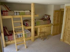 Not that we need it anymore but I love the item and thoughts of triple bunks ~ who would have thought! And I though my hubby was a genius with the toddler bunk bed he designed!!