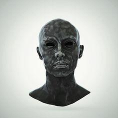 Haunting Stare #art #sculpture #cgi #c4d #arnold #haunting #ceramic #3d