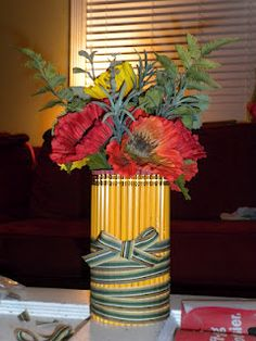 Made this pencil vase for my mom who is a high school teacher.