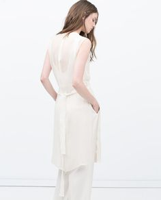 Image 6 of LONG EMBROIDERED WAISTCOAT WITH SLITS from Zara