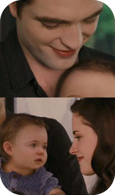 Breaking Dawn Part 2. Edward, Bella, and Renesmee