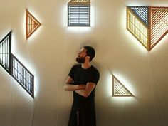 """""""Daylight"""" wall lights Philippe Malouin -- artificial windows based on the tangram and inspired by plantation shutters."""