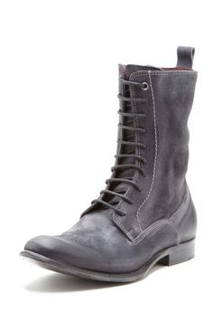Distressed Leather Lace-Up Boot / i.am