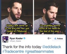 Ryan Kesler & Eddie Lack my hockey husbands. Secretly they love each other