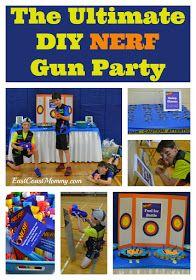 Indoor birthday party games for kids diy nerf gun 63 ideas Sleepover Party Games, Indoor Party Games, Diy Party Games, Party Crafts, Ideas Party, Party Party, Party Time, Party Favors, 7th Birthday Party For Boys