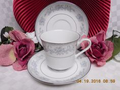 Mikasa, China Dinnerware Dresden Rose, Pattern #L9009 Set 2 Saucer & 1 cup