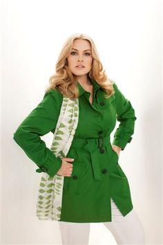 Toni Plus, Fuchs Schmitt  green trench coat, plus-size