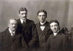 Photo of Beverly Jefferson and his sons. The lives of Eston Hemings Jefferson's descendants differed radically from those of his brother Madison, exemplifying the striking gap in opportunities for blacks and whites in the nineteenth and early twentieth centuries. Beverly Jefferson's sons benefited from the educational and professional advantages of the transition to whiteness.