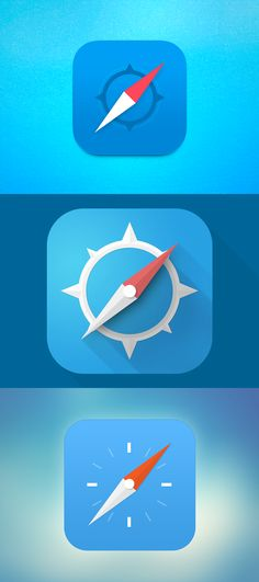 Was it that hard Apple?  iOS7 Safari icon redesign   1. by Apostol Voicu 2. by Anon Wuttowsky 3. by Tim Poot
