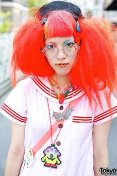 japanese fashion, clothing, outfit, red hair | Favimages.net