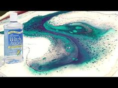 Fluid ART using WITCH HAZEL in Acrylic Pouring - YouTube