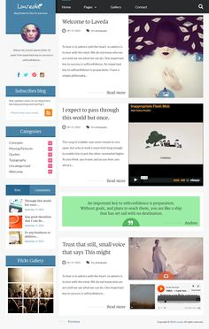 Laveda is an beautiful Responsive WordPress Blog Theme,. It's perfect for easy blogging or Portfolio. With powerful features to suit almost every needs and yet so simple to use and perfect for your stories to shine