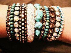 Aggressive amounts of bracelets. Check.