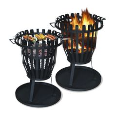 Sol Vuurkorf BBQ rond - how neat are these? Wood And Metal, Solid Wood, Wood Burning Fire Pit, Esschert Design, Getaway Cabins, Wooden Ceilings, Outdoor Living, Outdoor Decor, Real Wood