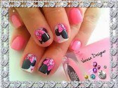 Resultado de imagen para decoraciones de uñas para niñas Gel Nail Designs, Gel Nails, Manicures, Nail Art, Beauty, Little Girl Nails, Nail Decorations, Decorations, Hairdos