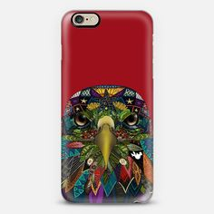 Red iPhone case with American Eagle. Casetisfy.