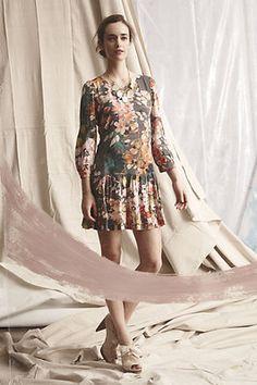 Anthropologie Meadow Rue Minutiae Drop Waist Dress