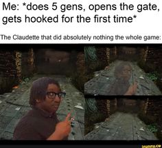Me: *does 5 gens, opens the gate, gets hooked for the first time* The Claudette that did absolutely nothing the whole game: - iFunny :) Horror Movie Characters, Horror Movies, Cartoon Characters, Cartoon Network Adventure Time, Adventure Time Anime, Get Hooked, Gaming Memes, Paladin, Funny Games