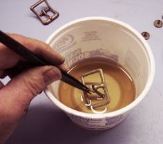 Tom Banwell—Leather and Resin Projects: Brass Buckles Redux