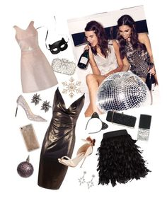 """Newyear party"" by ryabulya on Polyvore featuring мода, H&M, Boohoo, Alice + Olivia, Sophia Webster, Jimmy Choo, Natasha Couture, White House Black Market, Cara и John Lewis"