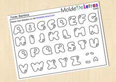 Molde de Letras e Números Bambina - Blog Molde de Letras