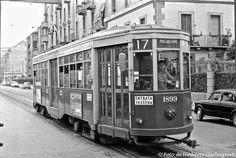 .... vettura (Peter Witt del 1928) versione bicolore verde chiaro e verde scuro,  ATM-1652 .... anno 1963 - © Umberto Garbagnati -