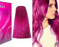 Berina a24 pink magenta hair dye color cream permanent fashion professional use Free Shipping (China (Mainland))