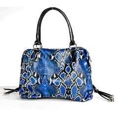 Large Dark Blue Snake Print Faux Leather Handbag « Clothing Impulse #OPIEuroCentrale #ISawYouSawWeSawWarsaw