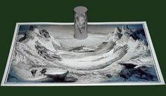 Anamorphic Drawings István Orosz  incredible reflected art
