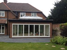 Bi-Folding Doors, Patio Doors and Lantern Roof - Thame Victorian Conservatory, Conservatory Design, Orangery Extension, Single Storey Extension, Glass Extension, Rear Extension, Roof Lantern, Folding Doors, Glass Roof