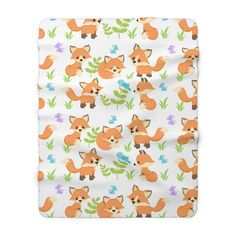 WOODLAND FOX BLANKET Kids Baby Nursery Crib Bedding Decor Boy Nursery Bedding, Bedding Decor, Baby Nursery Decor, Baby Boy Nurseries, Animal Lamp, Elephant Design, Fleece Blankets, Kids Decor